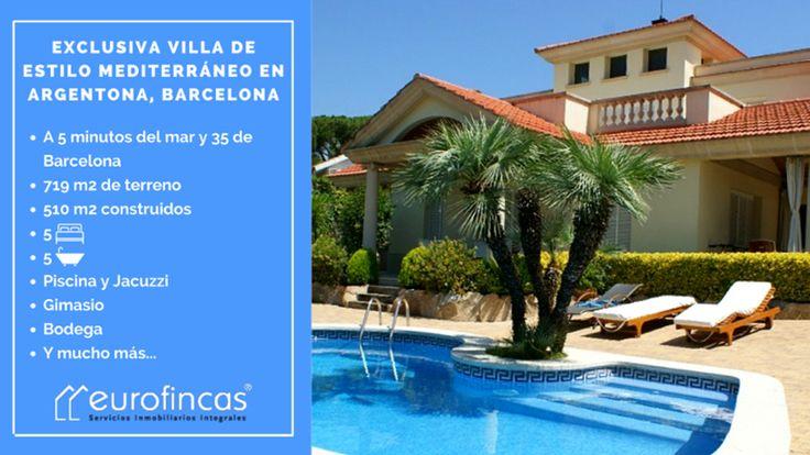 Villa de ensueño en Argentona, a pocos minutos de Barcelona!  Contacta con nosotros para más información💙  ☎ 93 476 49 69  📧 comercial@eurofincas.es  🔑 Roger de Llúria, 116, Barcelona  🖥 http://qoo.ly/kjuzy  .  .  .  #eurofincas - #realestate - #inmobiliaria - #immobiliaria - #houses - #home - #casa - #pisos - #piso - #flat - #barcelona - #igerbarcelona - #bcn - #dreamhouse - #alquiler - #venta - #argentona - #luxuryhouses - #luxuryvilla