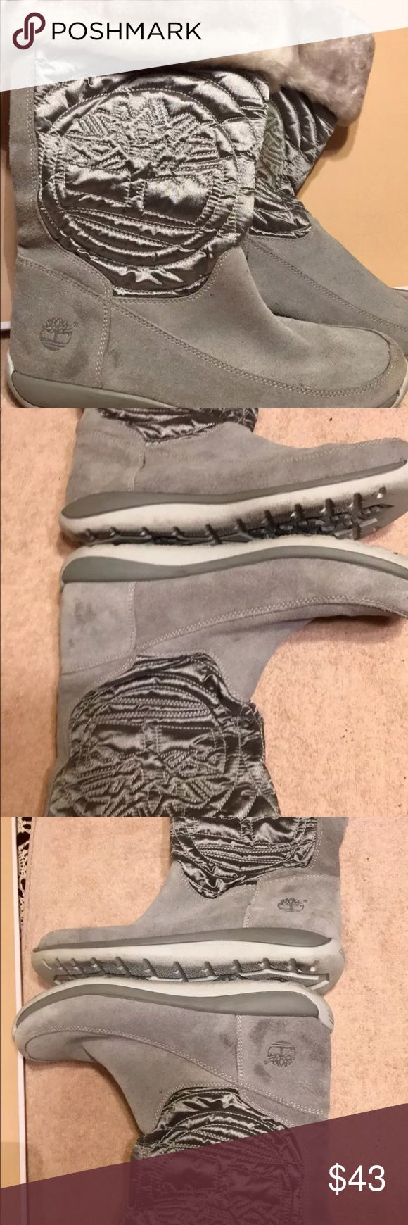 Timberland Hollyberry boots gray size 6 Timberland Junior boots excellent Condition Timberland Shoes Ankle Boots & Booties