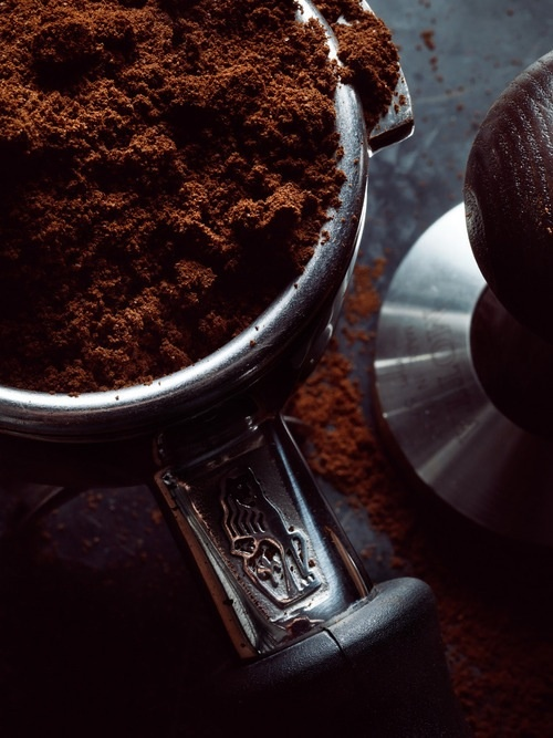 Fresh grounds, mmmmmmm | Espresso Tamper: http://www.foodservicewarehouse.com/espresso-supply/21420-57/p380392.aspx?utm_source=social&utm_medium=pinterest&utm_campaign=site
