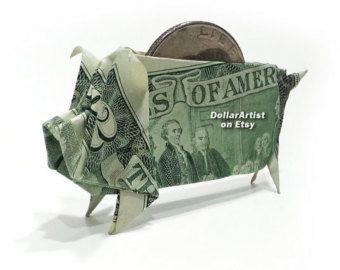 Items similar to Dollar Bill Origami Peacock on Etsy