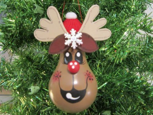 Reindeer Light Bulb Christmas Ornament                              …