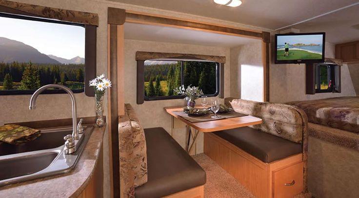 Rv Interior Truck Camper And Camper Interior On Pinterest