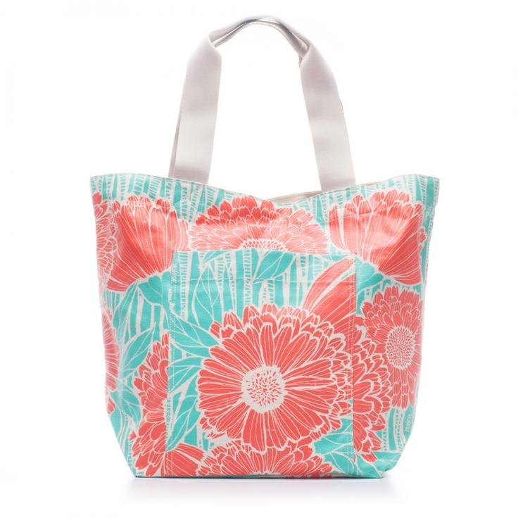 Marigold Beach Bag in Orange Salmon by Tulisan $87.00