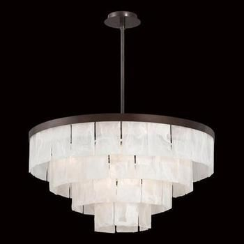eurofase hainsworth collection or chandelier alabaster glass plates tiered from an antique bronze frame