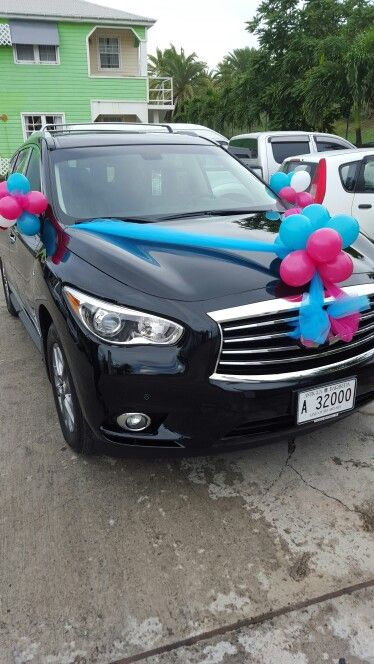 Turquoise  pink car decor wedding cars Pinterest - halloween decorated cars