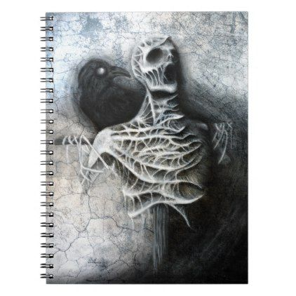 Whispers of a hidden fear - macabre art notebook - office ideas diy customize special