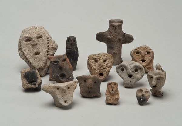 Jōmon figurines and fragments from Sannai Maruyama, Japan, Middle Jōmon Period