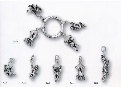 Giovanni Raspini Charms & Co 925/000 Silver Jewelry pieces with Angels from Italy