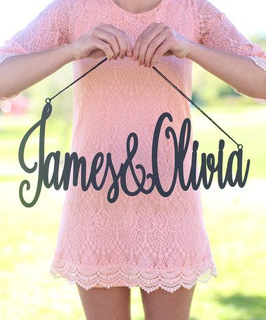 Look what I found on #zulily! Calligraphy Couple Personalized Sign#MorgannHillDesigns #zulilyfinds