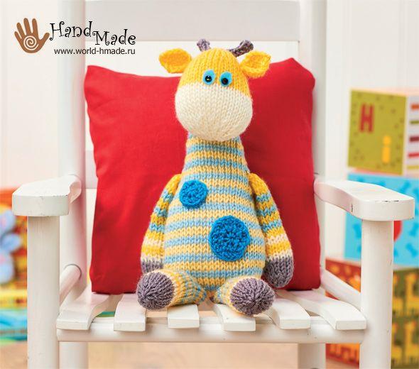 Жираф Гарри от Amanda Berry. Вяжем игрушку спицами.