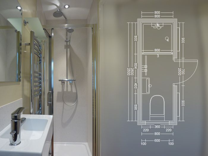similar bathroom layout less the heated towel rack - Small Shower Room Ideas