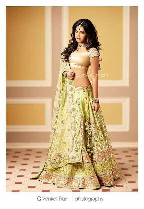 The brilliant actor Amala Paul @Amala_ams beautiful in #Pastel #Lehenga <3