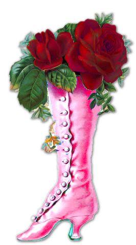 Vintage roses in boot scrap ~ Susie's scrapactivities and freebies