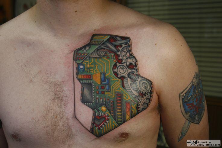 curcuit tattoo   Justin's circuitry