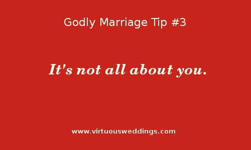 Godly Marriage Tip #3 | More Godly Marriage Tips at www.virtuousweddings.com!