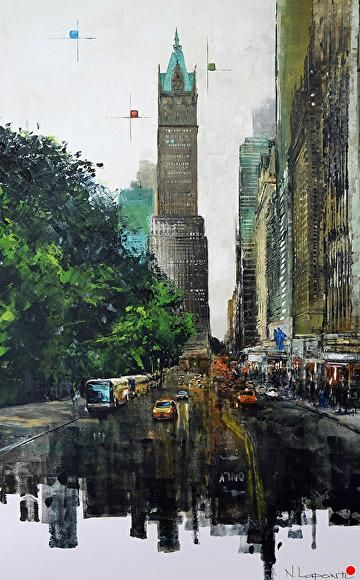 Back to New York by Nathalie Lapointe Oil ~ 36 x 24