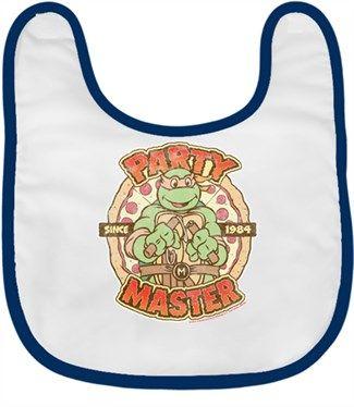 Ninja Kaplumbağalar - Party Kendin Tasarla - Bebek Önlüğü