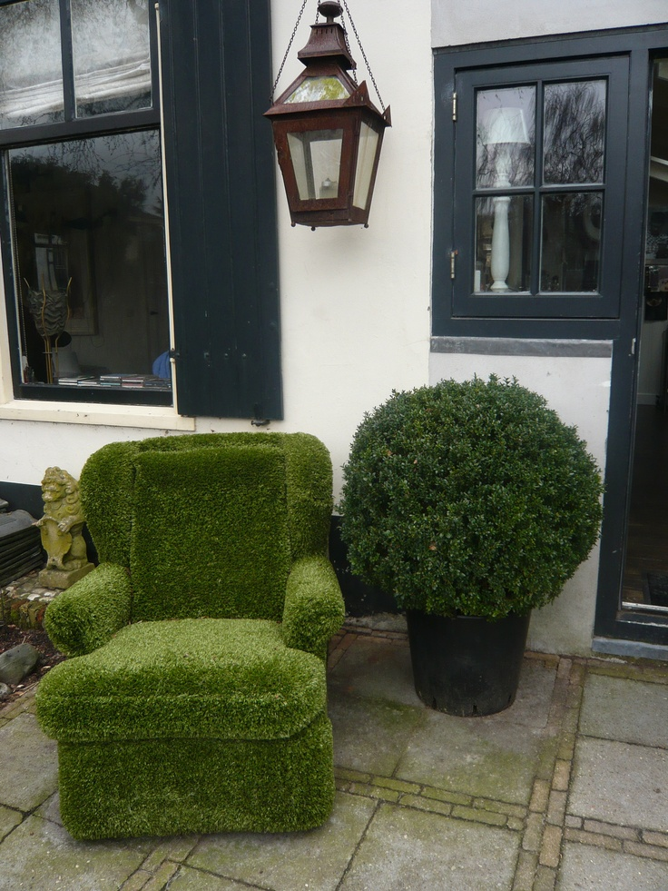 The artificial grass recliner! For any artificial grass furniture give us a call for a great price on 01751417776