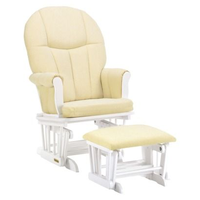 Shermag Danielle Deluxe Sleigh Style Rocker Glider and Ottoman Combo ...