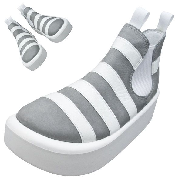 TOKYO BOPPER No.890 / White & Gray shoes featured on Jzool.com