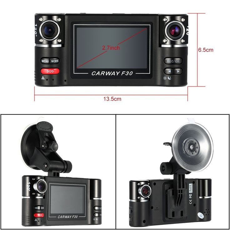 "F30 Dual Lens Car Driving Recorder 2.7"" HD Car DVR Dash Sale Online Shopping black - Tomtop.com"