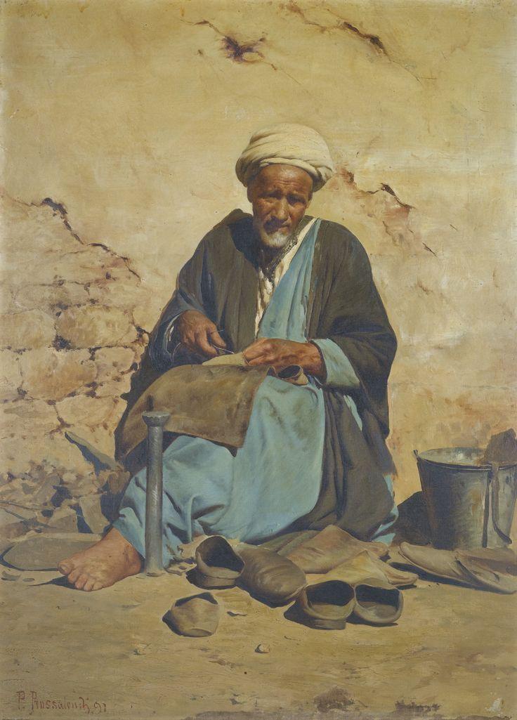 Pavlos Prosalentis  1857-1894 THE ARAB COBBLER .