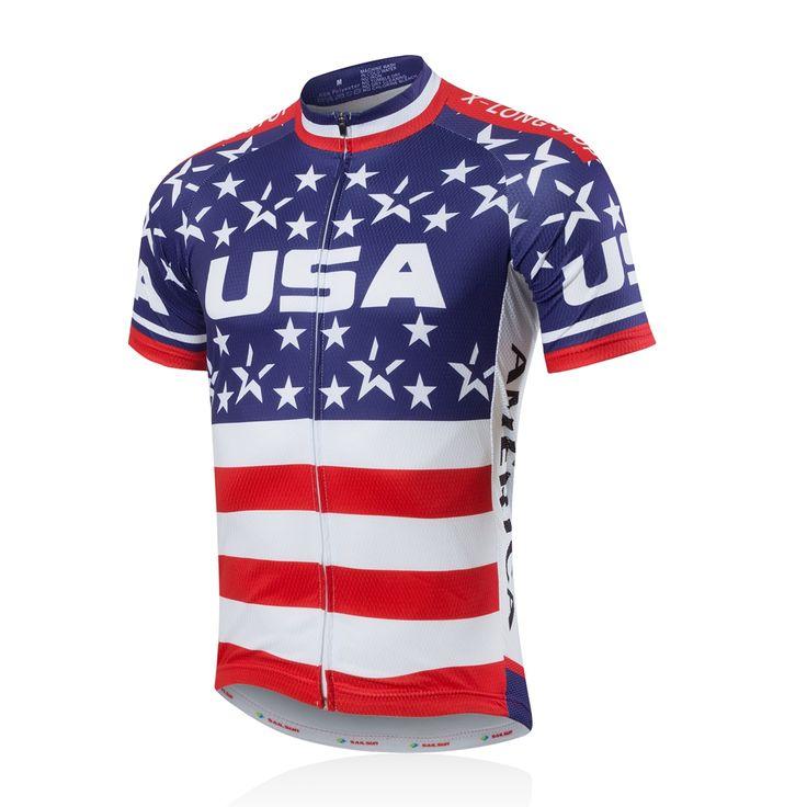 2016 Men Bike Jersey Short Sleeve Outdoor Sportwear Cycling Shirt Top Summer USA Star CC6106 #women, #men, #hats, #watches, #belts, #fashion, #style