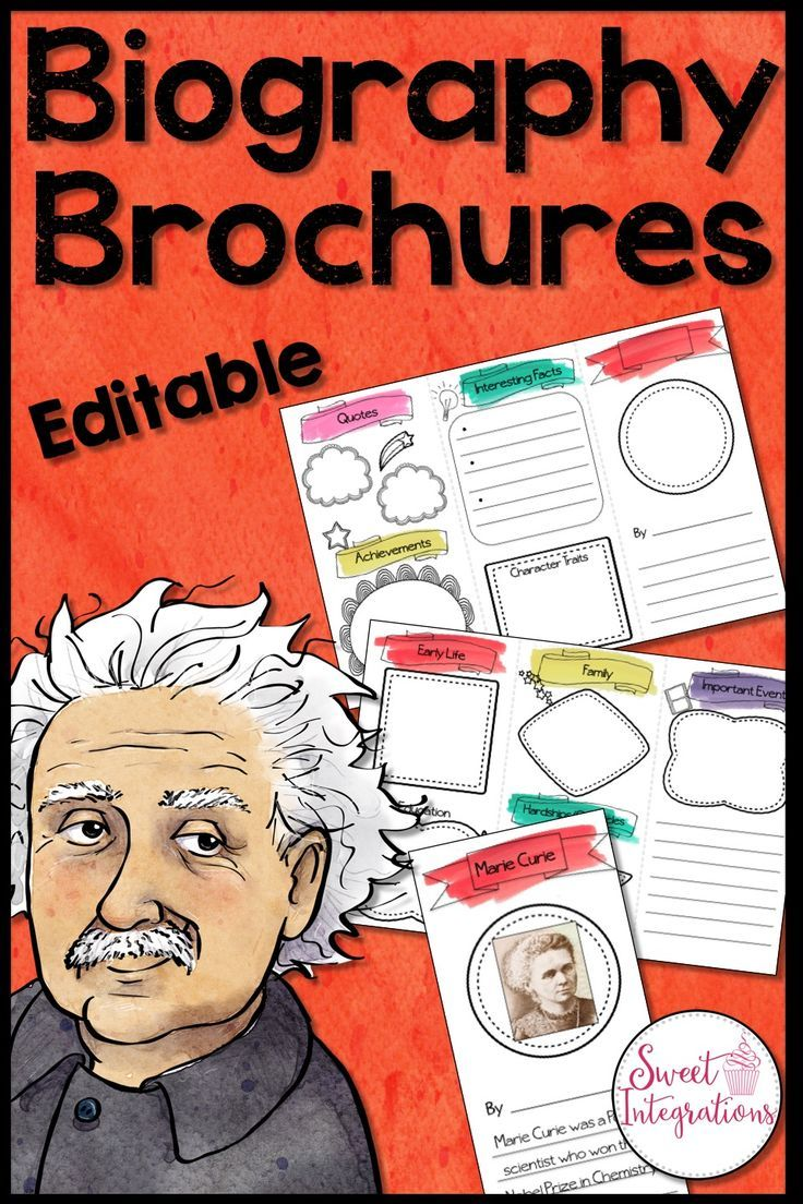 This biography brochure is a fun way for your students to learn about biographies. This brochure is an editable template so students can add the pictures and text either on the computer or by hand. Students can share their brochures during their nonfiction reading study. I've also included Google Slides templates for those who want to use Google Apps to complete the activity. $