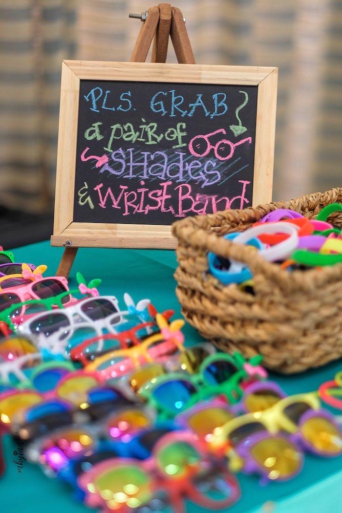 7c8f3b47d87 Sunglass Favors from a Coachella Inspired Boho Birthday Party on Kara s Party  Ideas