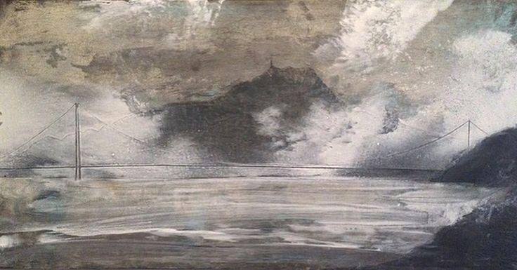#siggjo & #stordbrua #norwegian #mountain #bridge #acrylic #painting #contemporary #art #galleryart #artbybitta
