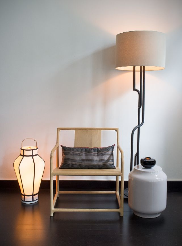 AKAR DE NISSIM's Lounge chiar MANDCHU, Floor Lamp GATSBY and Lantern YU #Home #Decor #Lifestyle