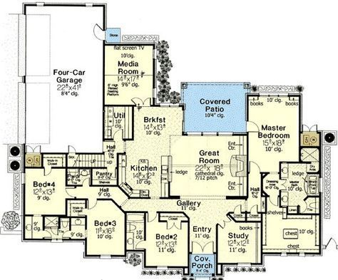 Luxurious Master Suite - 48375FM | European, French Country, 1st Floor Master Suite, Bonus Room, Butler Walk-in Pantry, CAD Available, Jack & Jill Bath, MBR Sitting Area, Media-Game-Home Theater, PDF, Split Bedrooms, Corner Lot | Architectural Designs
