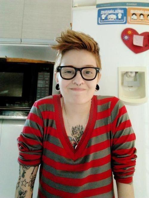 girl, glasses, tattoos, cute