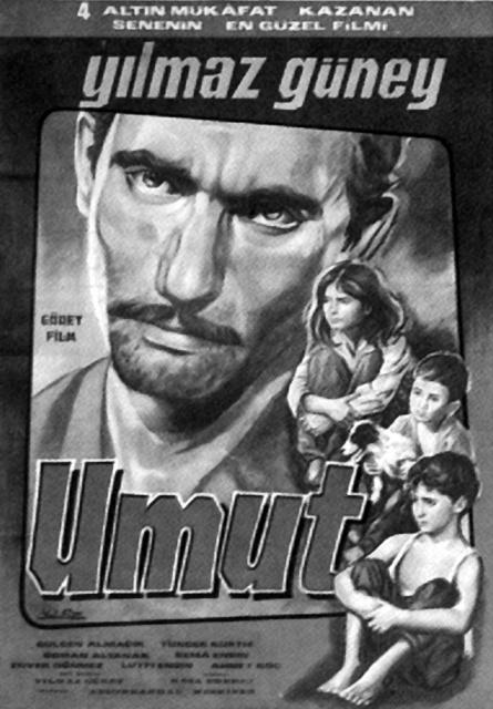"""1966 yılında oyuncu Yılmaz Güney, yönetmen olarak ilk filmini ''At, Avrat, Silah""""a çekmiştir. 1970 yılında da yönetmenliğini yaptığı siyah beyaz """"Umut"""" filmiyle çok konuşulmuştur."""