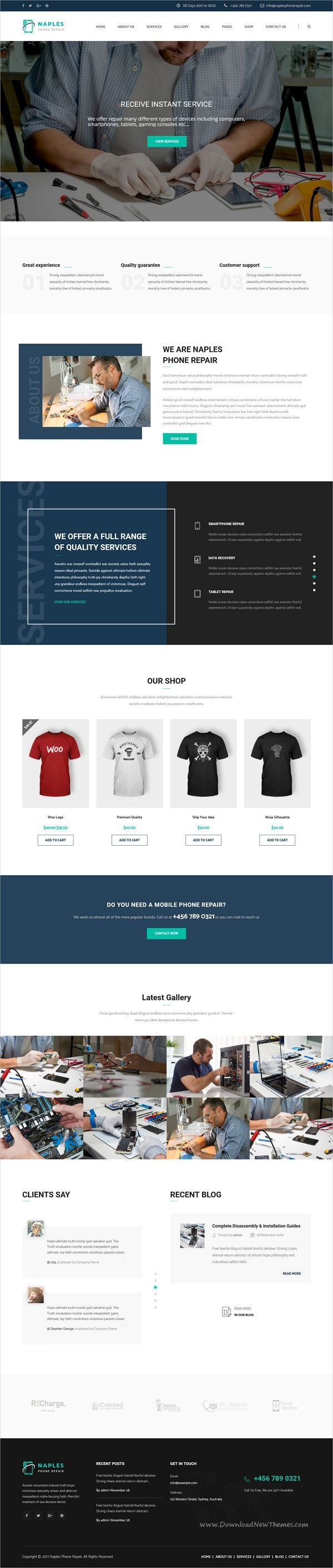 Naples is a wonderful 3in1 responsive #WordPress theme for electronics, #phone or #computer #repair shop websites download now➩  https://themeforest.net/item/naples-phone-computer-repair-shop-wordpress-theme/19171468?ref=Datasata