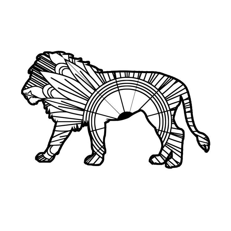 2222+ Mandala Lion Svg – SVG,PNG,EPS & DXF File Include