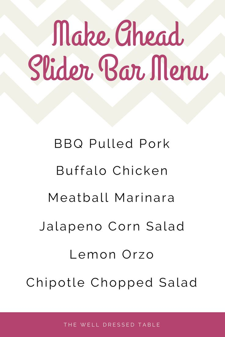 How To Create a Slider Bar Menu, made ahead with the use of a few crock pots at www.thewelldressedtable.com