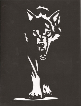 Dark wolf print by hilemanhouse on Etsy, $9.95