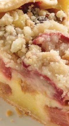 Country Rhubarb Crostata ~ A rustic no-fuss crust and a simple rhubarb custard filling make this springtime special extra-tasty.