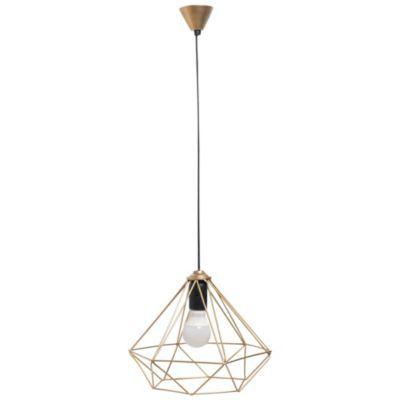 Lámpara de colgar geométrica dorada grande
