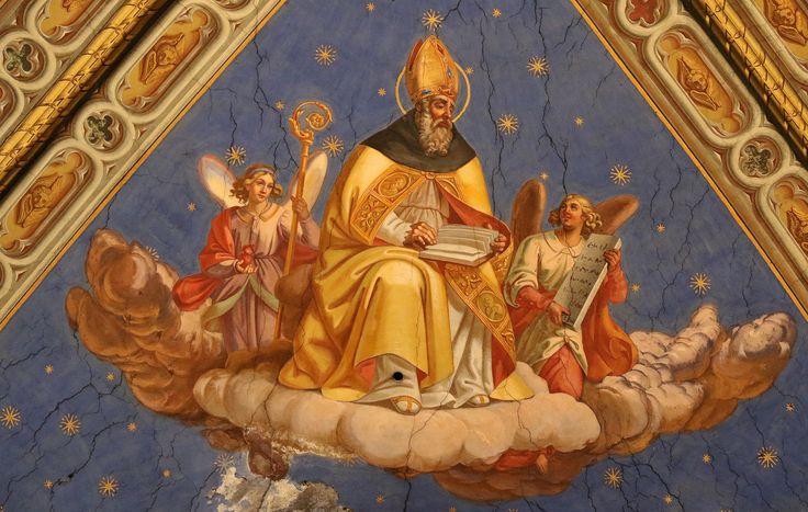 Sant'Ambrogio - volte del soffitto transetto della Basilica di Santa Maria Sopra Minerva - Roma | St. Ambrose - ceiling of the transept - Basilica of Santa Maria Sopra Minerva - Rome