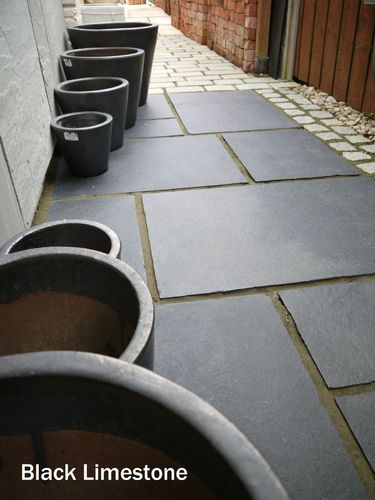Black Limestone - Natural Indian Stone Patio Paving Slabs 15m2 see Sandstone