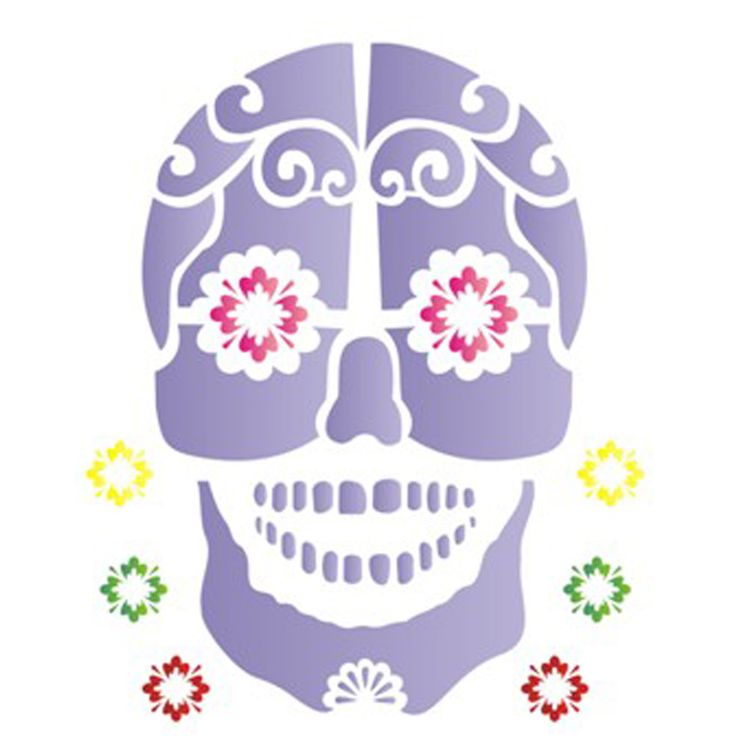 Estêncil para Pintura Simples 20x25 Caveira Mexicana - OPA1180 - Opa - PalacioDaArte