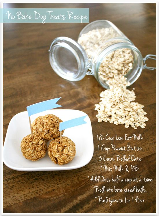 * Makes 25-30 treats.  * Treats can last up to 2 weeks stored in the fridge.  * Use a gentle pressure when rolling the balls. The mixture can be sticky and heavy handedness can cause it to crumble.  * Milk can be substituted with other dairy free variatio