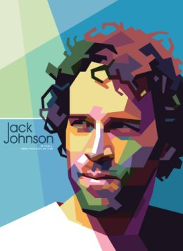 Jack Johnson in Colorful WPAP Vector Pop Art Graphic Design by Toni Agustian…
