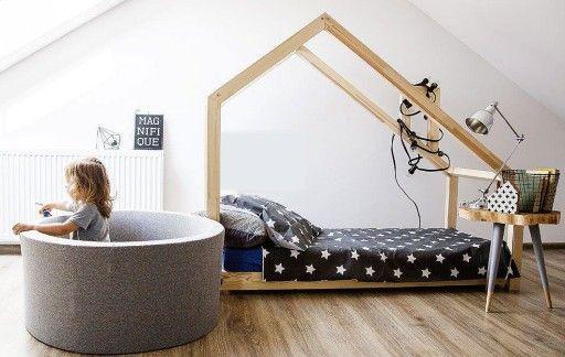 łóżko Dziecięce Domek Drewniany Dzieci Młodzieży