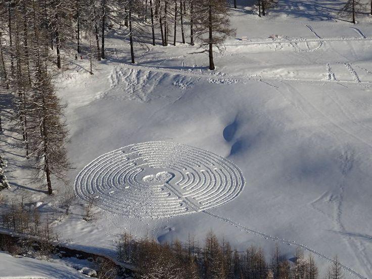 Il labirinto di San Valentino a Chamois - Foto di Gian Mario Navillod.