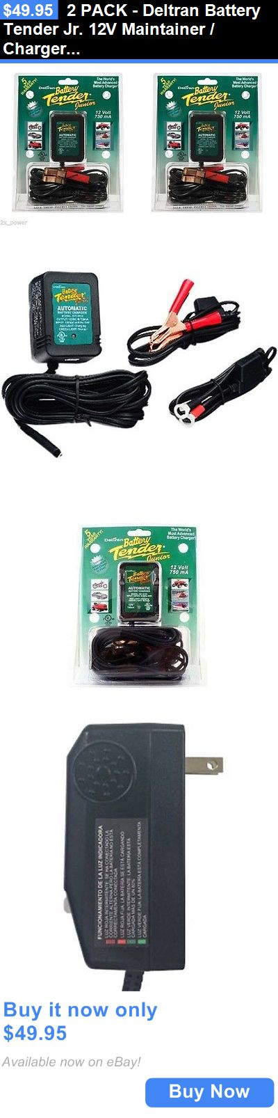 Motors Parts And Accessories: 2 Pack - Deltran Battery Tender Jr. 12V Maintainer / Charger Tender Jr BUY IT NOW ONLY: $49.95