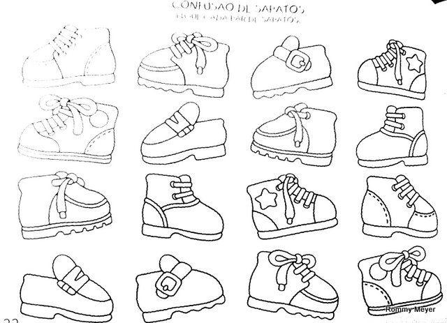 Zoek de schoenen die bij elkaar passen
