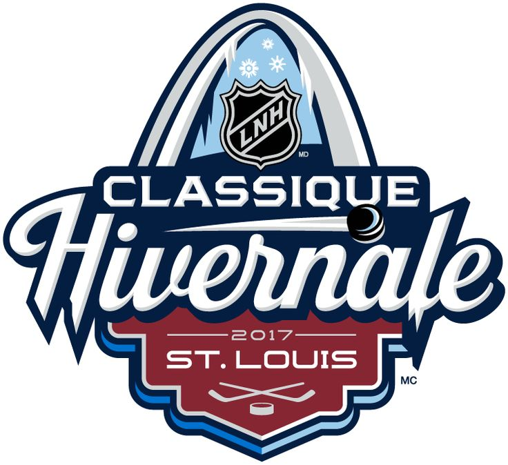 NHL Winter Classic French Logo (2017) - 2017 NHL Winter Classic at Busch Stadium in St. Louis, Missouri. St. Louis on January 2, 2017. St. Louis Blues VS Chicago Blackhawks